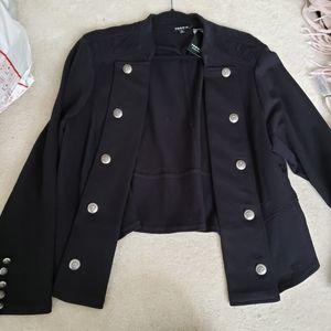 NWT torrid black cropped military jacket